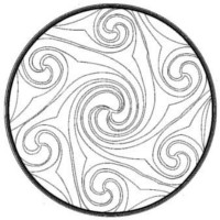 7 Spiral mandala black and white
