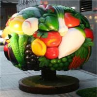 Fruit and Vegetable statue